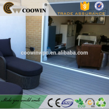 Eco-friendly wpc blue grey laminate wood flooring