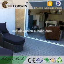 Eco-friendly wpc azul cinza laminado piso de madeira