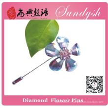 Sundysh Broche fleur en cristal violet fait main