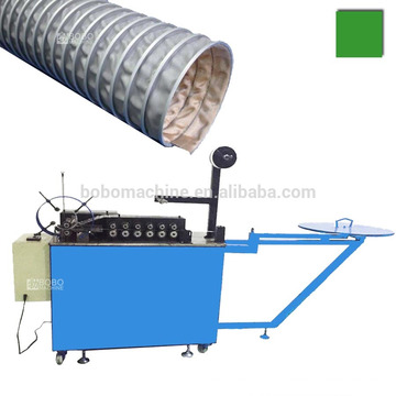 Steel clamp clip reinforced PVC / glass silicon / tarpaulin flexible duct machine