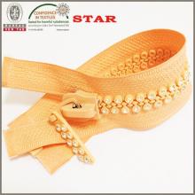 Zippers de diamante de cierre abierto No. 10 para prendas distintas
