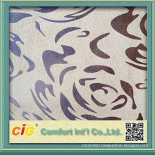 Popular Plain and Bronzing suede fabric for sofa cover and Car Seat Cover