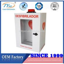 TUV CE pour les armoires de stockage de défibrillateur bon marché d'AED avec l'alarme