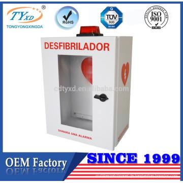 TÜV CE für AED billige Defibrillator Speicherschränke mit Alarm