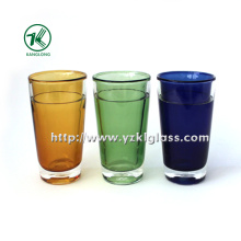 Natural garrafa de vidro colorido (8,6 * 8,6 * 13,8)