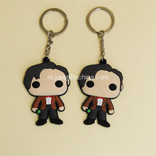 Promotionele Cartoon vorm PVC Keyring