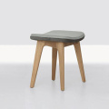 Leather Upholstery Stool Footrest Morph Pouf Ottoman