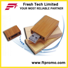 Eco-Friendly de madera / Bamboo USB Flash Drive con Logo (D801)