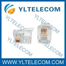 RJ11 Conector 6P4C Cable plano