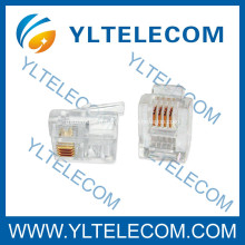 RJ11 Câble plat fiche modulaire 6P4C