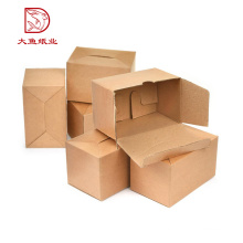 Boîte en carton ondulée de papier de format standard brun recyclé
