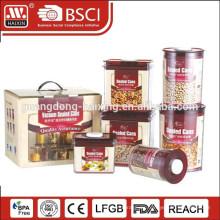 Columna envase de almacenaje plástico para alimentos, artículos plásticos para el hogar (4.8 L)