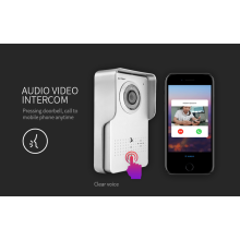 Suporta App no ​​Android / iOS WiFi Video Intercom campainha de casa inteligente