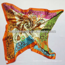 2013 newest printed satin scarf
