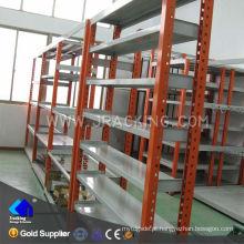 Prateleira industrial do vintage do armazenamento ajustável dos armazéns do equipamento do metal