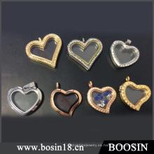 Colgante flotante del medallón de cristal de la memoria del corazón romántico del nuevo diseño 2016