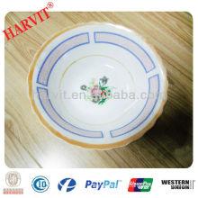 """5"""" Unique Decal Porcelain Soup Bowl"""