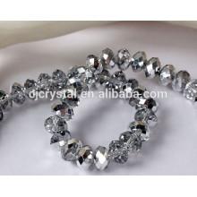 Grânulos de cristal em bluk, grânulos de cristal rondelle por atacado chinês
