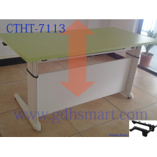 oval desks manual crank height adjustable office desk study desk artificial marble dining table