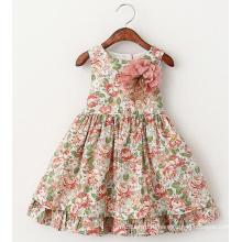 Маленькие девочки одежда Детская одежда дети носить платья в цветочек платья Платье