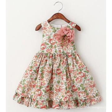 Vestidos do desgaste das crianças da roupa das crianças da roupa das meninas em vestidos do vestido da flor