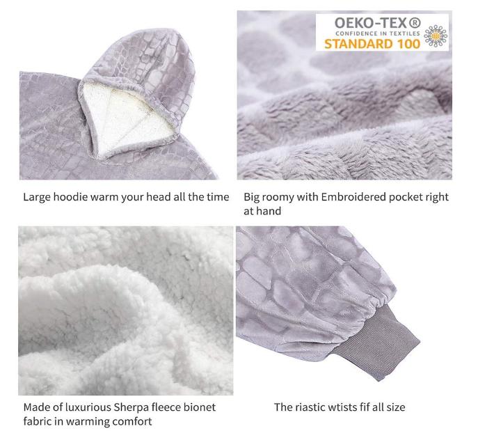 Oversized Sherpa Hoodie Sweatshirt Blanket 3