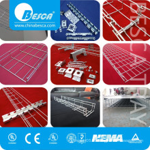 Stainless steel SUS SS316 wire mesh basket cable tray(ISO9001 listed Factory)