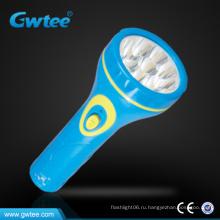 Пластиковый электрический светодиодный фонарик / фонарик