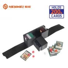 Caja de cubierta protectora de tarjeta de juego de mesa de cuero