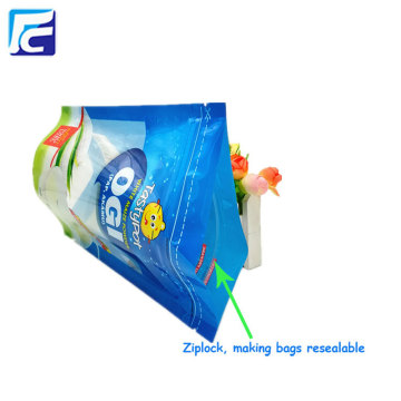 Custom printed powder packaging bag with window