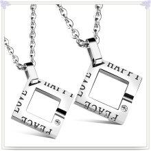 Art- und Weiseschmucksache-Edelstahl-Schmucksache-Art- und Weisehängende Halskette (NK730)