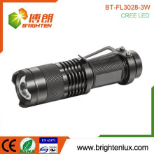 Factory Custom Made Aluminum Zoom Dimmer Cree led portable lighting battery powered