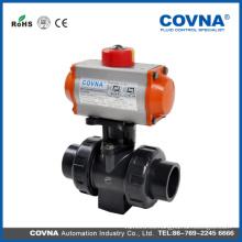 Actuador neumático DN25 True Union Válvula de bola de PVC