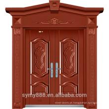 Luxo Elegante Superior Design Roma Porta De Entrada De Aço Superior Passo a Passo Seguro Devorador