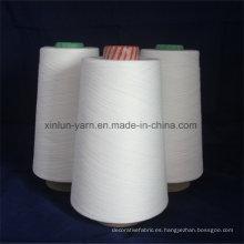 Hilo blanco puro T / C 65/35 Hilado de algodón de poliéster mezclado