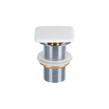 Best Sellers Drainer Pipe Bathroom Sink Drain Wash Brass Basin Waste with Ceramic Cap Bathtub Chrome Plated Push Down Pop-up