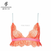Hot images of women sexy long lined wireless full transparent lace bralette bra