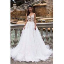 Sexy Custom Made Beading Lace Ball Bridal Gowns China Supplier