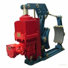 Hydraulic brake crane and belt conveyor