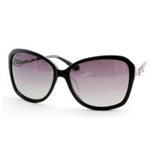 Gafas de sol de alta calidad de las mujeres de la manera con las lentes de la pendiente (14323)