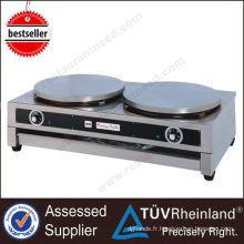 Gaz robuste en acier inoxydable ou crêpière électrique