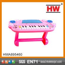 Забавный пластиковый детский игрушечный розовый музыкальный орган