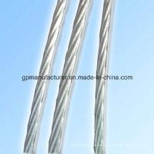 Cable Utilizado Hot Dipped galvanizado hilo de alambre Strand 7 cables