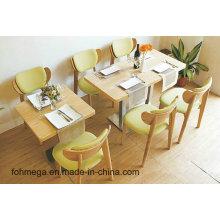 Modern Fast Food Restaurant Mesas y Sillas Mobiliario