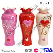 Vaso de cerámica pintado a mano para el hogar decorativo