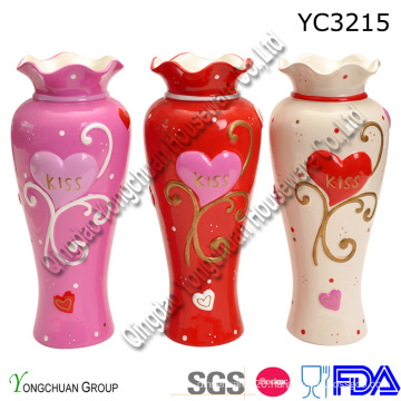 Ceramic Hand Painted Vase for Home Decorative