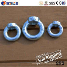 Hardware Rigging galvanizado Eye Nut con DIN 582