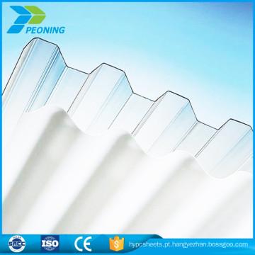 Preço inferior policarbonato pc folha de plástico ondulado