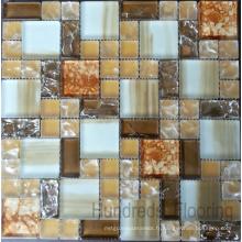 Mosaïque en verre à mosaïque fissuré (HGM288)