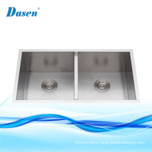 CUPC New Design Double Bowl Stainless Steel Handmade Kitchen Sinks